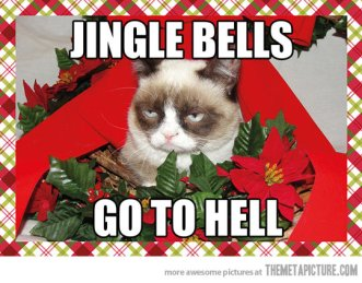 funny-angry-cat-Christmas-decorations-tree