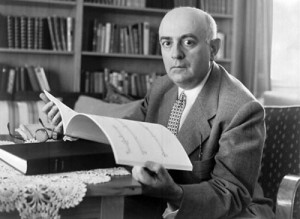 Spotted: Theodor Adorno catching up on all the latest gossip from the Upper East Side.